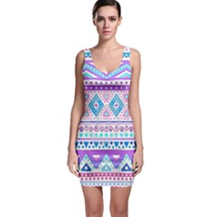 Tribal pastel hipster  Sleeveless Bodycon Dress