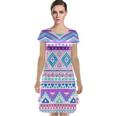 Tribal pastel hipster  Cap Sleeve Nightdress
