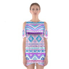 Tribal pastel hipster  Shoulder Cutout One Piece