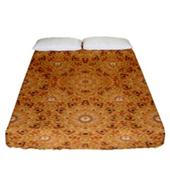 Intricate Modern Baroque Seamless Pattern Fitted Sheet (Queen Size)