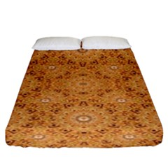 Intricate Modern Baroque Seamless Pattern Fitted Sheet (King Size)