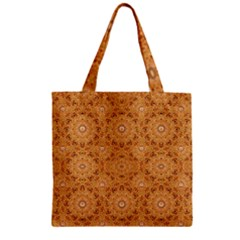 Intricate Modern Baroque Seamless Pattern Zipper Grocery Tote Bag