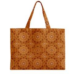 Intricate Modern Baroque Seamless Pattern Zipper Mini Tote Bag