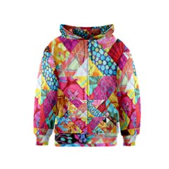 Colorful hipster classy Kids  Zipper Hoodie
