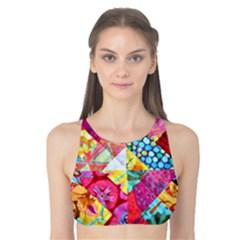 Colorful hipster classy Tank Bikini Top