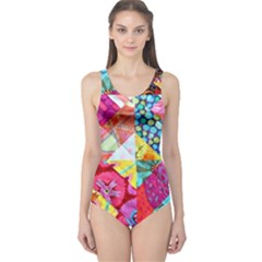 Colorful hipster classy One Piece Swimsuit