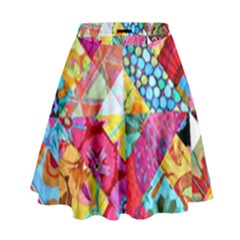 Colorful hipster classy High Waist Skirt