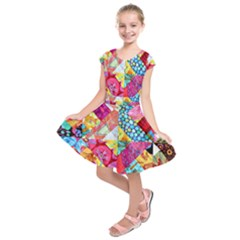 Colorful hipster classy Kids  Short Sleeve Dress