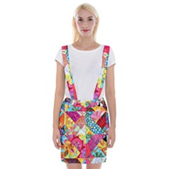 Colorful Hipster Classy Suspender Skirt