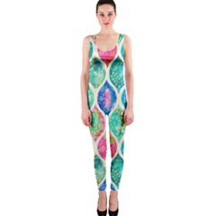 Rainbow moroccan mosaic  OnePiece Catsuit