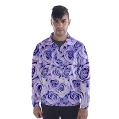 Electric white and blue roses Wind Breaker (Men)