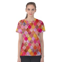 Warm moroccan mosaid Women s Cotton Tee