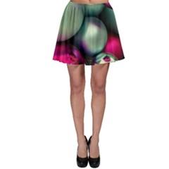 Christmas garlands Skater Skirt