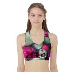 Christmas garlands Sports Bra with Border