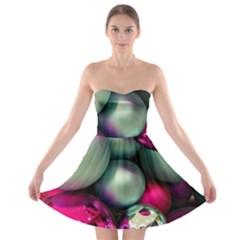 Christmas garlands Strapless Bra Top Dress