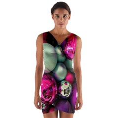 Christmas garlands Wrap Front Bodycon Dress