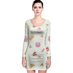 Cute cakes Long Sleeve Bodycon Dress