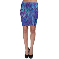 Blue bird feather Bodycon Skirt