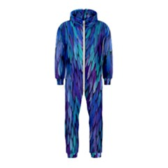 Blue bird feather Hooded Jumpsuit (Kids)