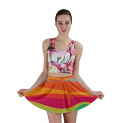 Melting paint Mini Skirt