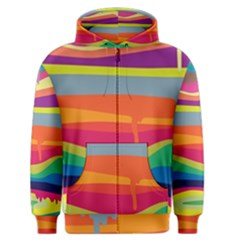 Melting paint Men s Zipper Hoodie