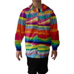 Melting paint Hooded Wind Breaker (Kids)
