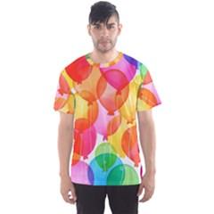 Rainbow balloon Men s Sport Mesh Tee