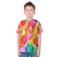 Rainbow balloon Kids  Cotton Tee