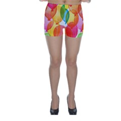 Rainbow balloon Skinny Shorts
