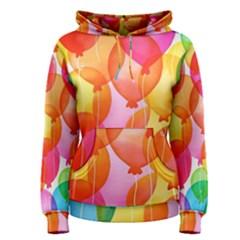 Rainbow balloon Women s Pullover Hoodie