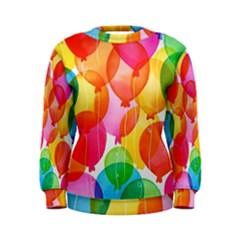 Rainbow balloon Women s Sweatshirt