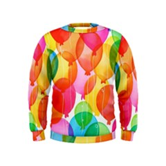 Rainbow balloon Kids  Sweatshirt