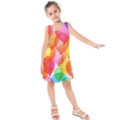 Rainbow balloon Kids  Sleeveless Dress