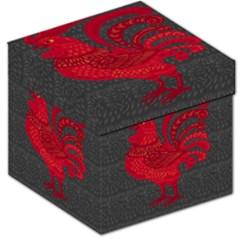 Red fire chicken year Storage Stool 12