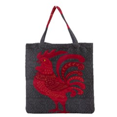 Red fire chicken year Grocery Tote Bag