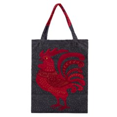 Red fire chicken year Classic Tote Bag
