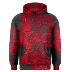 Red fire chicken year Men s Pullover Hoodie