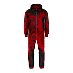 Red fire chicken year Hooded Jumpsuit (Kids)