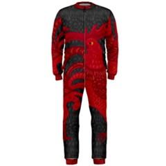 Red fire chicken year OnePiece Jumpsuit (Men)