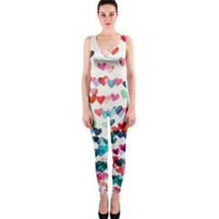 Cute rainbow hearts OnePiece Catsuit