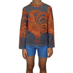 Chicken year Kids  Long Sleeve Swimwear