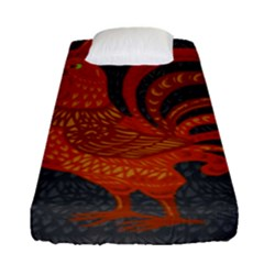 Chicken year Fitted Sheet (Single Size)