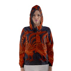 Chicken year Hooded Wind Breaker (Women)