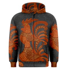 Chicken year Men s Zipper Hoodie