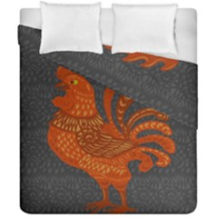 Chicken year Duvet Cover Double Side (California King Size)