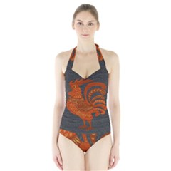 Chicken year Halter Swimsuit