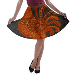 Chicken year A-line Skater Skirt