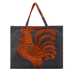 Chicken year Zipper Large Tote Bag