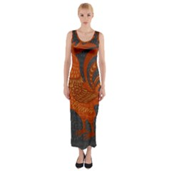 Chicken year Fitted Maxi Dress