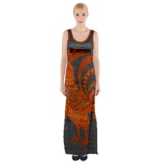 Chicken year Maxi Thigh Split Dress